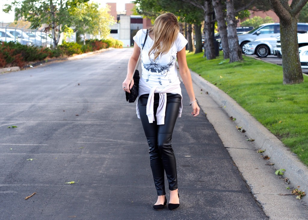 Casually Chic Leather Pant OOTD