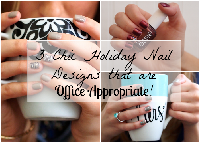 Chic Office Appropriate Holiday Nail Designs