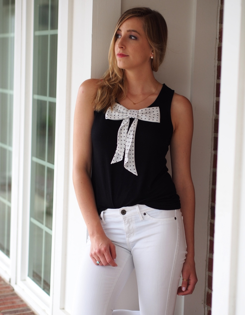 Little Polka Dot Bow Tie Top