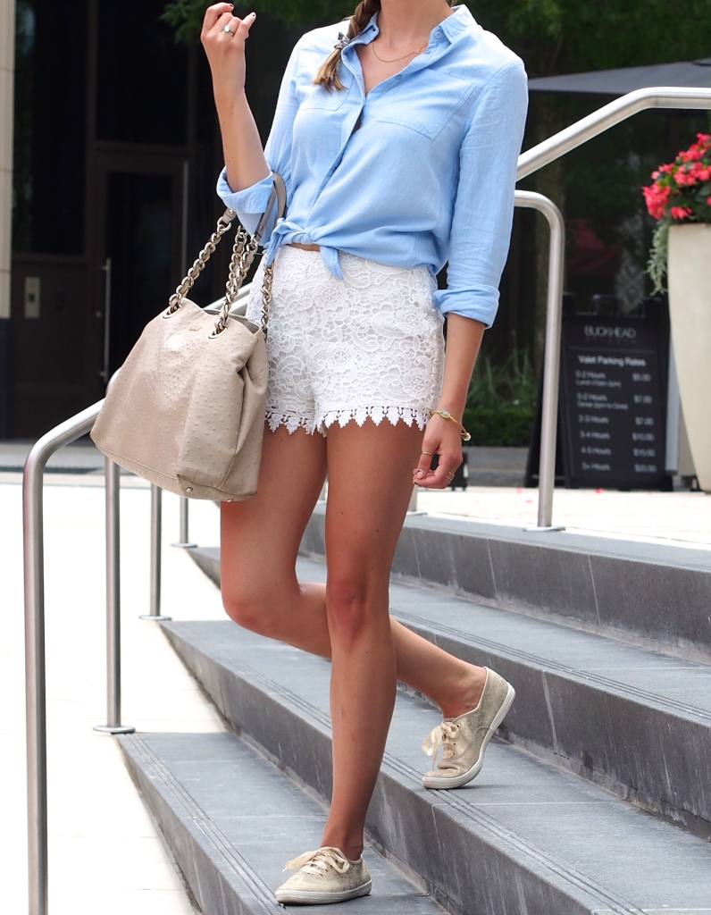 How to Wear Chambray and Lace